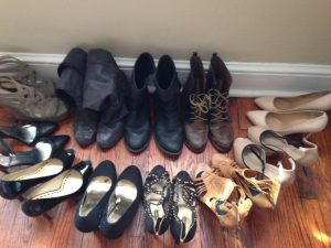 A selection of my boots + heels.