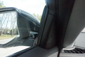 Blind Spot Alerts are on the inside of the window, instead of on the side-view mirror.
