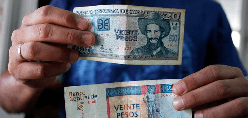 The Cuban Currencies Convertible Peso And
