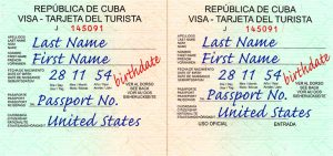 cuban visa for Amer