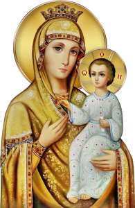 Depiction of the Virgin Mary and Jesus.